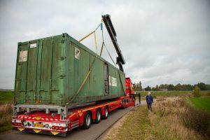 Aankomst container uit Oss
